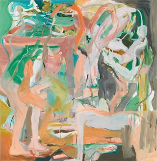 Cecily Brown, Luck Just Kissed You Hello, 2013 Oil on linen, 67 × 65 inches (170.2 × 165.1 cm)Photo by Robert McKeever