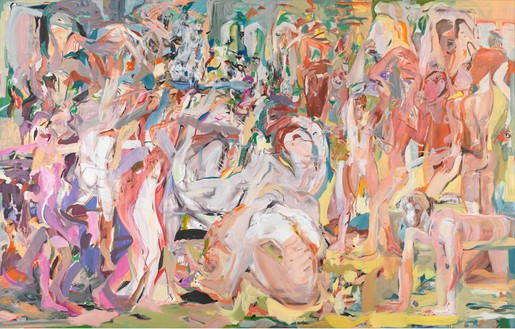 Cecily Brown, Untitled (The Beautiful and the Damned), 2013 Oil on linen, 109 × 171 inches (276.9 × 434.3 cm)Photo by Robert McKeever