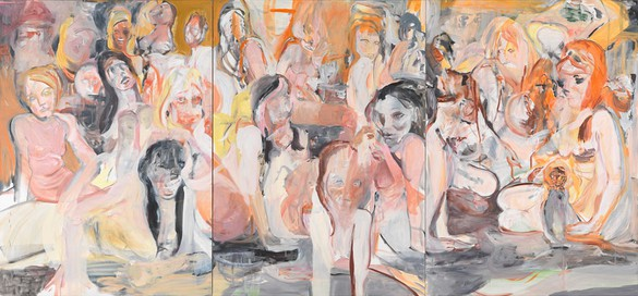 Cecily Brown, Untitled, 2013 Oil on linen, 77 × 165 inches (195.6 × 419.1 cm)Photo by Robert McKeever