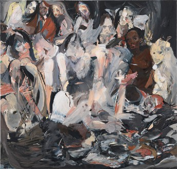 Cecily Brown, Untitled, 2012 Oil on linen, 89 × 85 inches (226.1 × 215.9 cm)