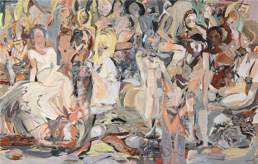 Cecily Brown, Untitled (Blood Thicker Than Mud), 2012 Oil on linen, 109 × 171 inches (276.9 × 434.3 cm)