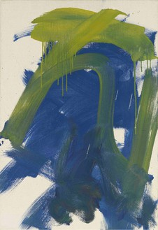 Joan Mitchell, Untitled, 1987–88 Oil on canvas, 28 ¾ × 19 ⅝ inches (73 × 49.8 cm)© Estate of Joan Mitchell. Courtesy Joan Mitchell Foundation