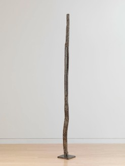David Smith, Forging XI, 1955 Varnished steel, 90 ½ × 8 ¼ × 8 ¼ inches (229.9 × 21 × 21 cm)© The Estate of David Smith/Licensed by VAGA, New York, photo by Rob McKeever
