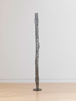 David Smith, Forging V, 1955 Varnished steel, 74 × 8 ½ × 8 ½ inches (188 × 21.6 × 21.6 cm)© The Estate of David Smith/Licensed by VAGA, New York, photo by Rob McKeever