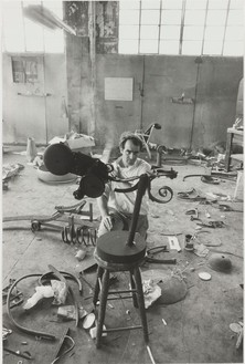 Dennis Hopper, Jean Tinguely, 1965 Gelatin silver print, 24 × 16 inches (61 × 40.6 cm), edition of 15
