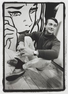 Dennis Hopper, Roy Lichtenstein, 1964 Gelatin silver print, 20 × 16 inches (50.8 × 40.6 cm), edition of 10