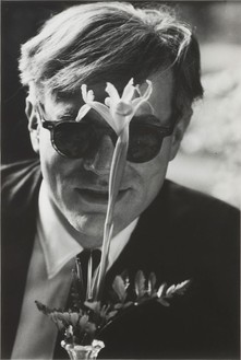 Dennis Hopper, Andy Warhol with Flower, Slight Smile, 1963 Archival digital print, 30 × 20 inches (76.2 × 50.8 cm), edition of 8
