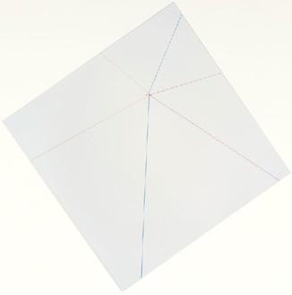 Elisa Sighicelli, Untitled (Punctum), 2012 Laminated chromogenic print mounted on aluminum, nail, 22 1/16 × 22 1/16 inches (56 × 56 cm), edition of 3