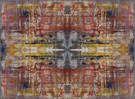 Gerhard Richter, MUSA, 2009 Jacquard woven, 108 11/16 × 148 131/6 inches, rolled (276 × 378 cm)© Gerhard Richter 2013