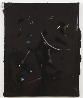 Piero Golia, Constellation Painting #9, 2011 Resin and debris, 60 × 48 × 3 ½ inches (152.4 × 121.9 × 8.9 cm)© Piero Golia
