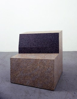 Richard Artschwager, Granite Chair, 2010 Laminate on wood, 32 × 29 ½ × 31 ½ inches (81.3 × 74.9 × 80 cm)