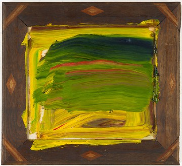 Howard Hodgkin, Jungle, 2011–12 Oil on wood, 22 ⅛ × 24 ¼ inches (56.1 × 61.6 cm)© Howard Hodgkin Estate