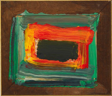 Howard Hodgkin, Night, 2011–12 Oil on wood, 20 ⅝ × 24 ⅛ inches (52.4 × 61.3 cm)© Howard Hodgkin Estate