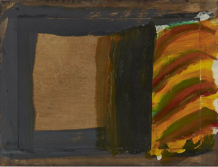 Howard Hodgkin, An Open Door, 2008–11 Oil on wood, 18 × 23 ¾ inches (45.7 × 60.3 cm)© Howard Hodgkin Estate