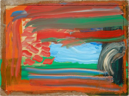 Howard Hodgkin, Wet Evening, 2009–12 Oil on wood, 42 ½ × 57 ¼ inches (108 × 145.4 cm)© Howard Hodgkin Estate