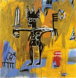 Jean-Michel Basquiat, Untitled (Julius Caesar on Gold), 1981 Acrylic and oil paintstick on canvas, 50 × 50 inches (127 × 127 cm)© The Estate of Jean-Michel Basquiat/ADAGP, Paris, ARS, New York 2013