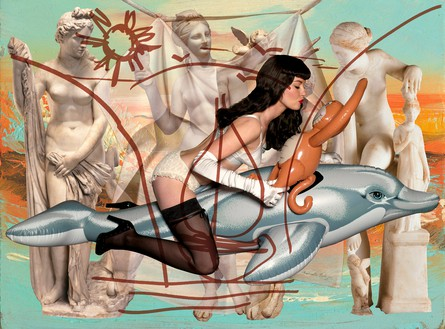 Jeff Koons, Antiquity 3, 2009–11 Oil on canvas, 102 × 138 inches (259.1 × 350.5 cm)© Jeff Koons