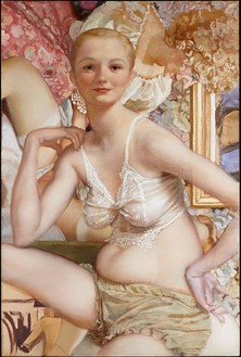 John Currin, San Remo, 2013 Oil on canvas, 48 × 32 inches (121.9 × 81.3 cm)© John Currin. Photo: Rob McKeever
