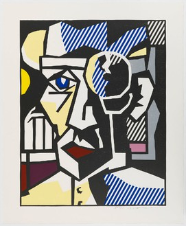 Roy Lichtenstein, Dr. Waldmann, 1980 Woodcut with embossing on Arches Cover paper, 41 ½ × 34 inches (105.4 × 86.4 cm), edition of 50© Estate of Roy Lichtenstein/Gemini G.E.L