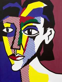 Roy Lichtenstein, Portrait of a Woman, 1979 Oil and Magna on canvas, 70 × 54 inches (177.8 × 137.2 cm)© Estate of Roy Lichtenstein