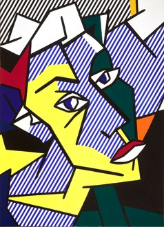 Roy Lichtenstein, Head, 1980 Oil and Magna on canvas, 50 × 36 inches (127 × 91.4 cm)© Estate of Roy Lichtenstein