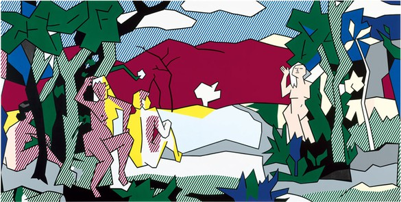 Roy Lichtenstein, The White Tree, 1980 Oil and Magna on canvas, 105 ⅜ × 210 ⅜ inches (267.5 × 534.5 cm)© Estate of Roy Lichtenstein