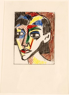 Roy Lichtenstein, Portrait of a Woman (study), 1979 Graphite pencil and colored pencil on paper, 8 ½ × 5 ⅞ inches (21.6 × 14.9 cm) @ Estate of Roy Lichtenstein
