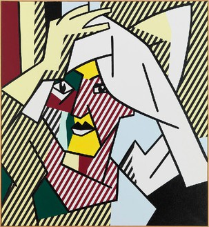 Roy Lichtenstein, Woman Drying Her Hair, 1980 Oil on Magna on canvas, 46 × 42 inches (116.8 × 106.7 cm)© Estate of Roy Lichtenstein