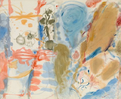 Helen Frankenthaler, Western Dream, 1957 Oil on canvas, 70 × 86 inches (177.8 × 218.4 cm)© 2013 Estate of Helen Frankenthaler/Artists Rights Society (ARS), New York