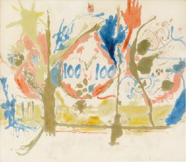 Helen Frankenthaler, Eden, 1956 Oil on canvas, 103 × 117 inches (261.6 × 297.2 cm)© 2013 Estate of Helen Frankenthaler/Artists Rights Society (ARS), New York