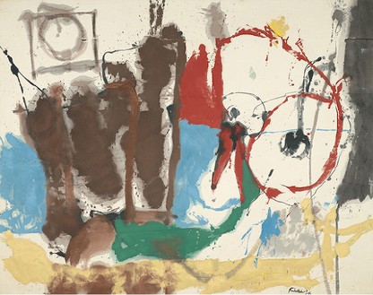 Helen Frankenthaler, Mother Goose Melody, 1959 Oil on canvas, 82 × 104 inches (208.2 × 264.1 cm)Virginia Museum of Fine Arts, Richmond, Gift of Sydney and Frances Lewis© 2013 Estate of Helen Frankenthaler/Artists Rights Society (ARS), New York