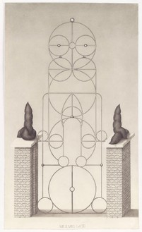 Paul Noble, Mr and Mrs Gate, 2010 Pencil on paper, 37 5/16 × 22 inches unframed (94.8 × 56 cm)