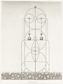 Paul Noble, Mrs Gate, 2010 Pencil on paper, 29 ⅞ × 22 3/16 inches unframed (76 × 56.5 cm)