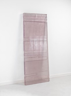 Rachel Whiteread, circa 1665 (I), 2012 Resin, 83 ½ × 33 ⅛ × 3 ⅜ inches (212 × 84 × 8.5 cm)© Rachel Whiteread. Photo: Mike Bruce