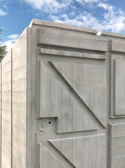 Rachel Whiteread, Detached 3, 2012 (detail) Concrete and steel, 77 ¼ × 67 ¾ × 115 ¾ inches (196 × 172 × 294 cm)© Rachel Whiteread. Photo: Mike Bruce