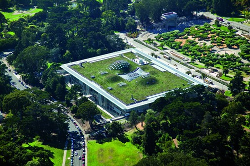 Renzo Piano, California Academy of Sciences, 2000–08 © Renzo Piano Building Workshop, photography by Tom Fox, SWA Group