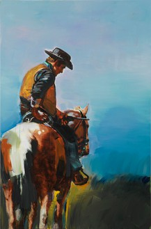 Richard Prince, Untitled (Cowboy), 2012 Inkjet and acrylic on canvas, 73 ½ × 48 ¼ inches (186.7 × 122.6 cm)