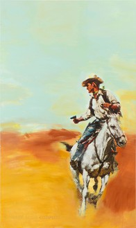 Richard Prince, Untitled (Cowboy), 2012 Inkjet and acrylic on canvas, 81 ¼ × 48 inches (206.4 × 121.9 cm)