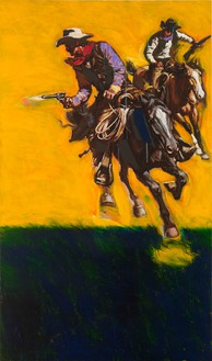 Richard Prince, Untitled (Cowboy), 2012 Inkjet and acrylic on canvas, 61 1/16 × 36 1/16 inches (155.1 × 91.6 cm)
