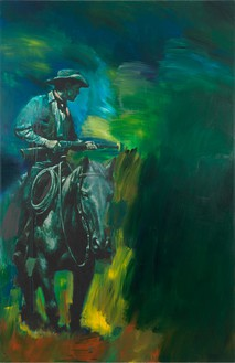 Richard Prince, Untitled (Cowboy), 2012 Inkjet and acrylic on canvas, 74 ⅛ × 48 inches (188.3 × 121.9 cm)