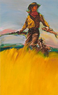 Richard Prince, Untitled (Cowboy), 2012 Inkjet and acrylic on canvas, 59 ½ × 36 inches (151.1 × 91.4 cm)