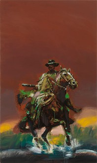 Richard Prince, Untitled (Cowboy), 2012 Inkjet and acrylic on canvas, 40 × 24 inches (101.6 × 61 cm)