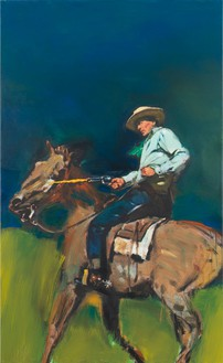 Richard Prince, Untitled (Cowboy), 2012 Inkjet and acrylic on canvas, 78 ¾ × 48 ¼ inches (200 × 122.6 cm)