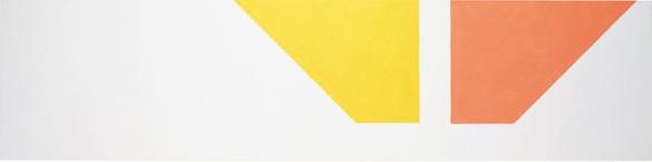 Martin Barré, 91-92-42x168-, 1991–92 Acrylic on canvas, 16 9/16 × 66 ⅛ inches (42 × 168 cm)