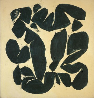 Simon Hantaï, Meun, 1968 Oil on canvas, 84 7/16 × 80 11/16 inches (214.5 × 205 cm)