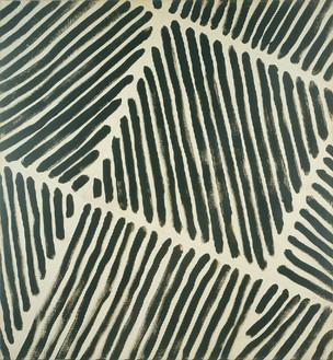 Martin Barré, 72-73-F-108 x 100, 1972–73 Acrylic on canvas, 42 ½ × 39 ⅜ inches (108 × 100 cm)