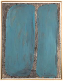 Daniel Buren, Peinture sure papier, Mai-Décembre 1964, 1964 Oil and graphite on paper mounted on canvas, 26 3/16 × 20 ¼ inches (66.5 × 51.5 cm)