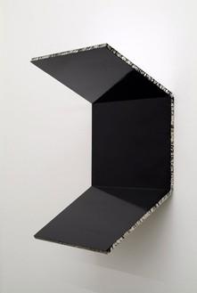 Steven Parrino, Bent Twice, 1991 Enamel on honeycomb aluminum, 33 ½ × 23 ½ × 15 ½ inches (85.1 × 59.7 × 39.4 cm)
