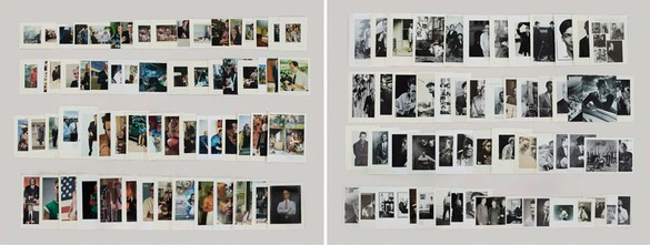 Taryn Simon, Folder: Men, 2012 Archival inkjet prints comprised of 2 components, 47 × 124 inches framed, each (119.4 × 315 cm), edition of 5