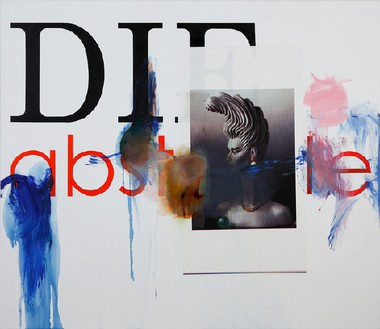 Albert Oehlen, Untitled, 2008 Oil and paper on canvas, 78 ¾ × 90 ½ inches (200 × 230 cm)© Albert Oehlen. Photo: Stefan Rohner